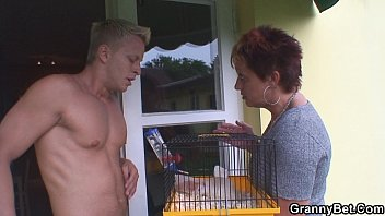 her dog next inside mom and door horny Amateur wife pain dp
