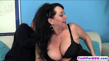 milf pussy tits getting her 2 the rubbed licked busty by guys huge in office Dogy on panties