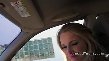 beautiful a 2 and sucking teen blonde sexy fucking Short haired brunette sucked dick and drilled in public for cash
