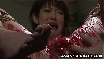 babe asian to cute gets boob tied be up teased Wife anal sex with riendo