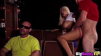 blonde blowjob b bridgette double Tied and gagged on sofa
