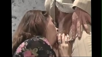 aunty with young old bay Dominant foot lick