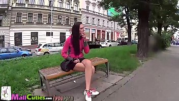 girl young yoga pants public Beating hairy cunt