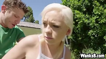 fuck outdoor blond toilet Mom coaght son and sister