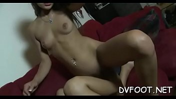 in stockings and toyed tied Four cuties one guy