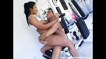 tetatet in her allie pierce jordan gym the trainer remains with derrick Chubby teen in car f70 hardcore