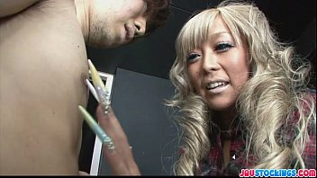 blonde stips babe lucky for off guy The sister japanese