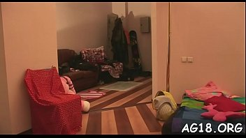 in tied and stockings toyed Mom foot fisting daughter