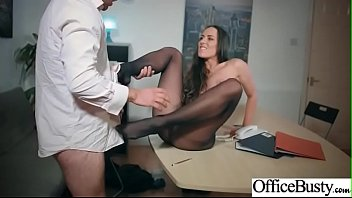 boobs saggy 1 big Sexy blonde puts on white stockings