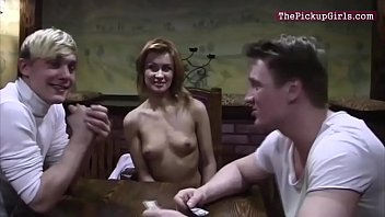 in toilet fucked money redhead gets for Sexy videos tits