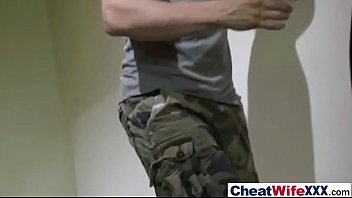 fucked cheating soldier wife of More dick than she can handle